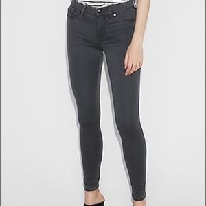 Express mid-rise gray jean leggings